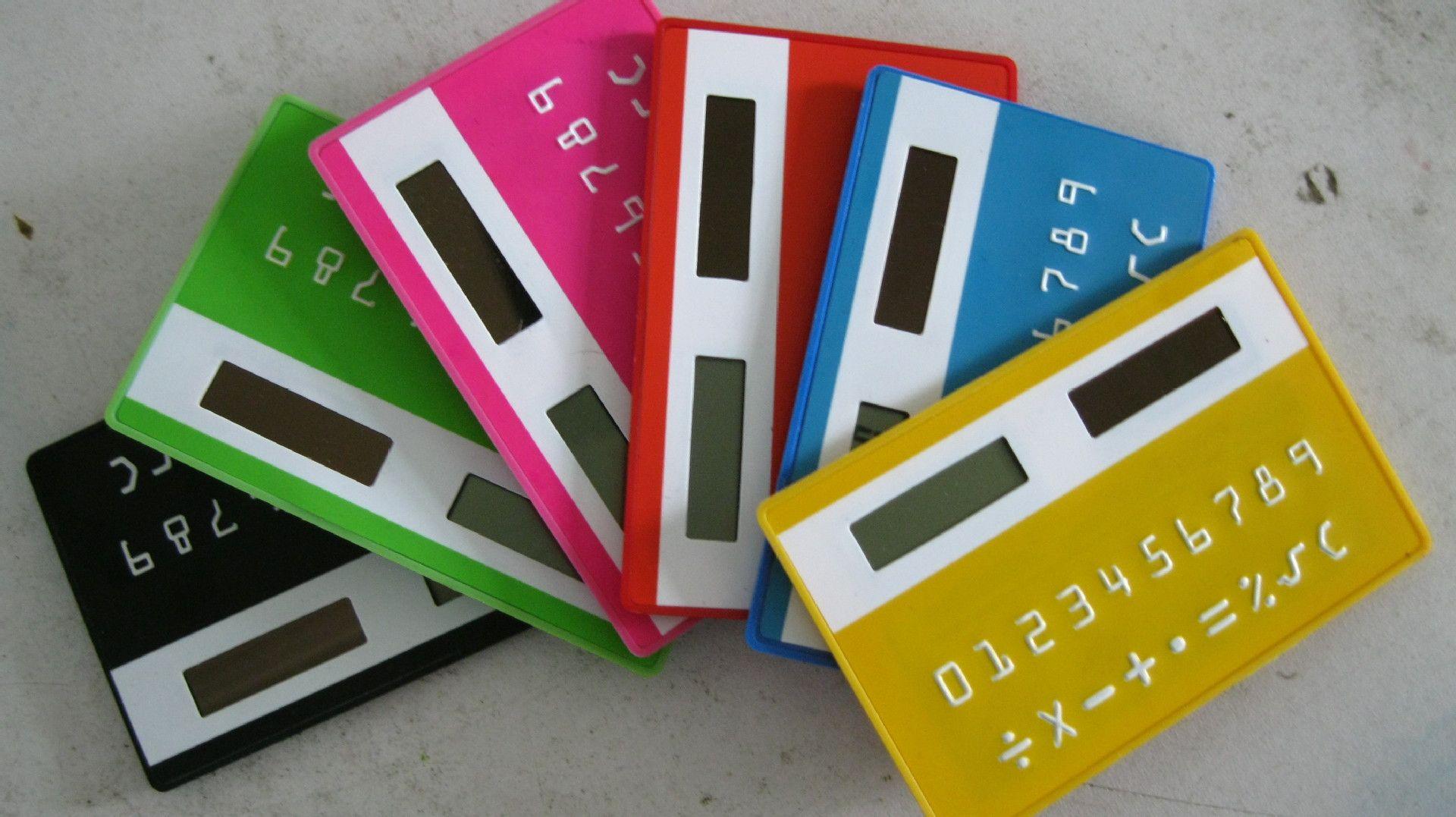 Creative Solar Doppelkartenrechner, achtstellige Anzeige, um die täglichen vier Operationen zu erfüllen, leicht zu tragen