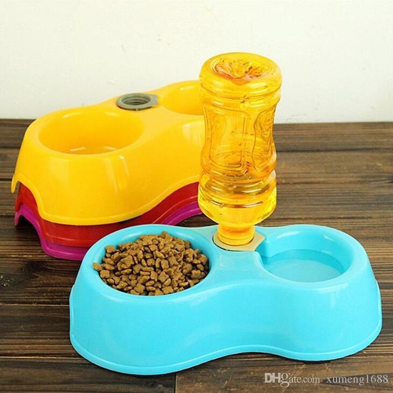 Creative Dual Port Dog Gamelle Bol automatique Distributeur d'eau potable Feeders Cat Autopetfeeder Pet Abreuvoir