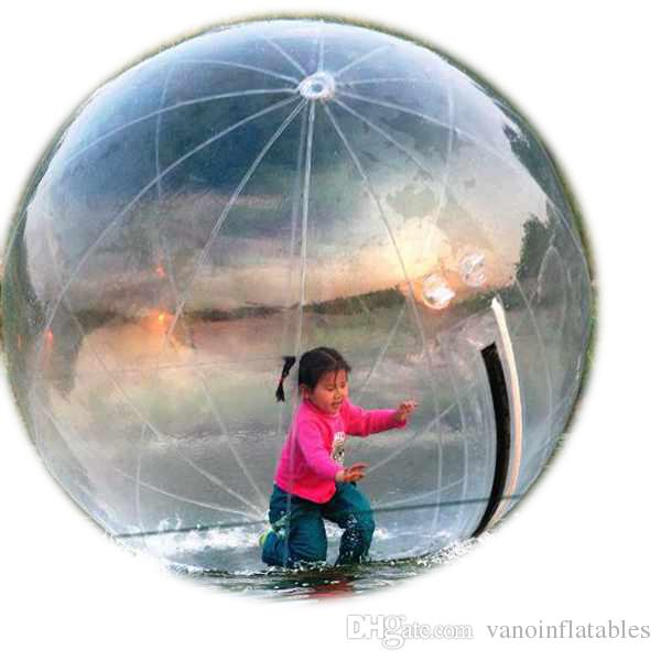 Consegna gratuita dell'acqua Zorbing Walk on Water Ball Zorb umana Diametro PVC trasparente 1.5m 2m 2.5m 3m