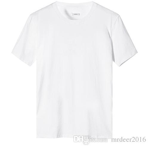 2017 beyaz kısa kollu T-shirt