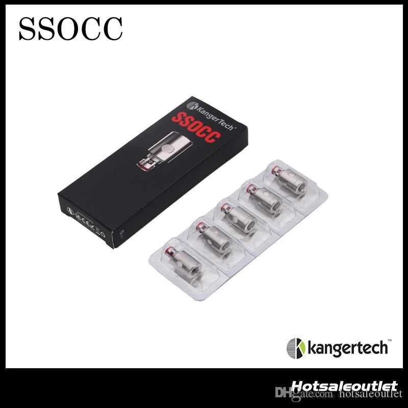 Autêntico Kanger SSOCC Bobinas 0.5ohm 1.2ohm 1.5ohm Ni200. 15ohm Substituível Cabeça Da Bobina Para Kanger Nebox / Subvod Kit de Aço Inoxidável OCC