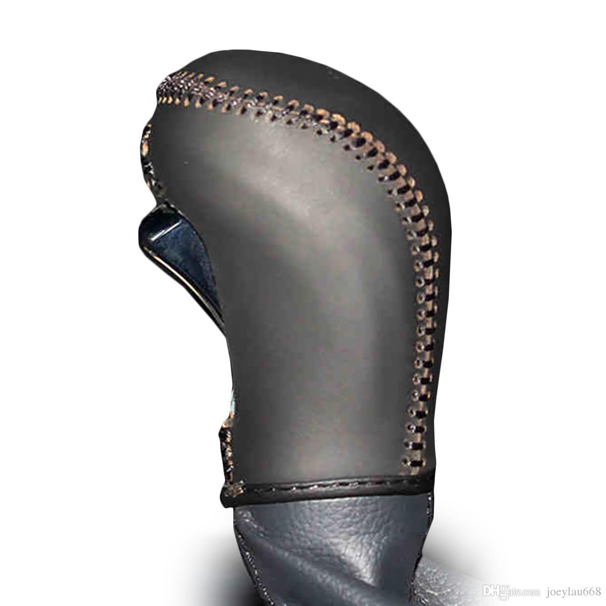 Чехол для Gear Gear Кожаный чехол для Hyundai Mistra Автоматическая ошейник переключения передач Натуральная кожа ручной вышивки DIY