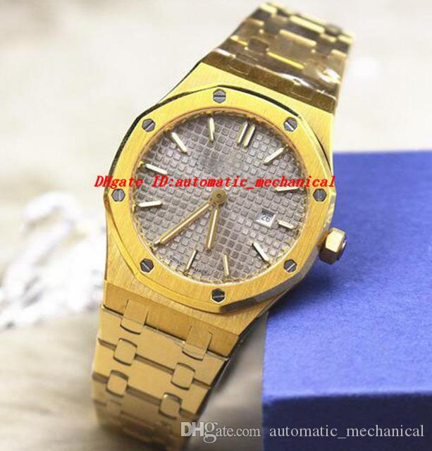 Роскошные наручные часы ST.OO.1220ST.01 33мм желтого золота Браслет из нержавеющей стали кварцевые Леди часы высокое качество