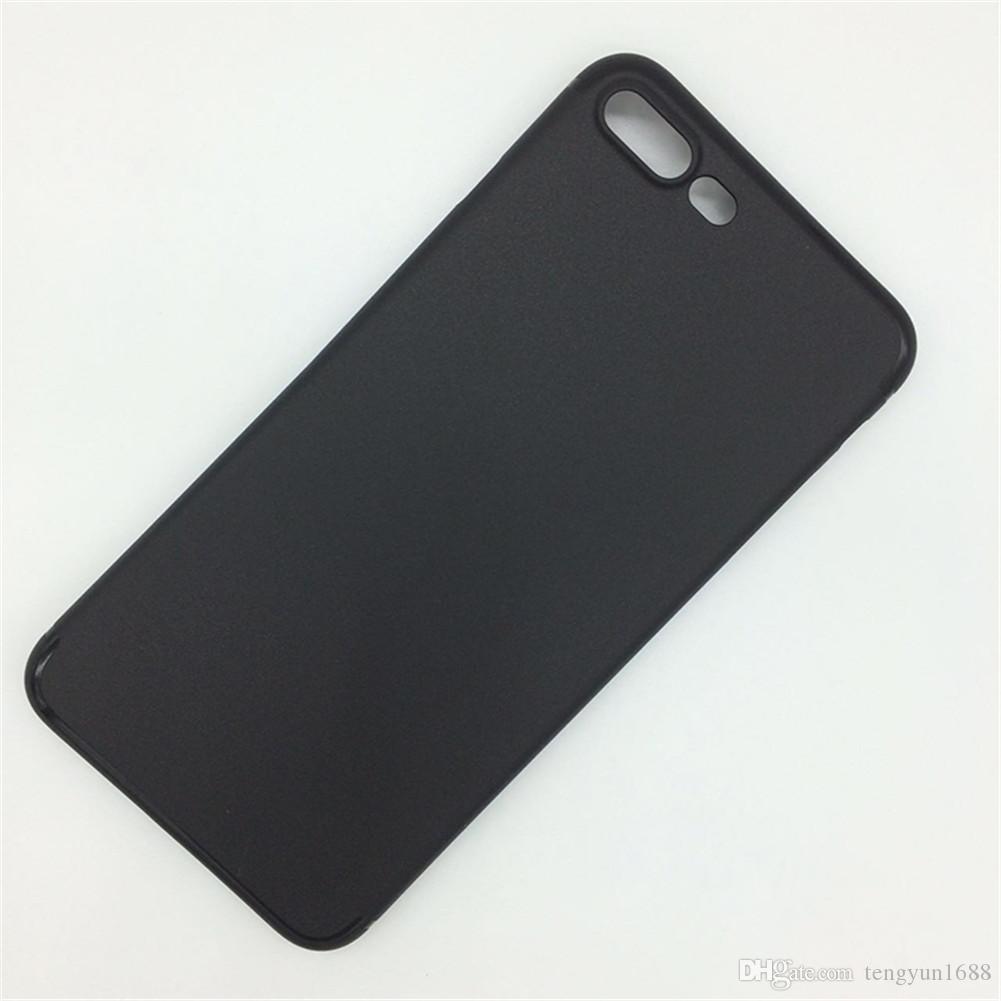 لاجهزة ايفون 7 بلس ، حافظة صلبة رفيعة وخفيفة الوزن بتصميم مطفي اللمعان لهواتف ابل ايفون 7 بلس (2017) - اسود