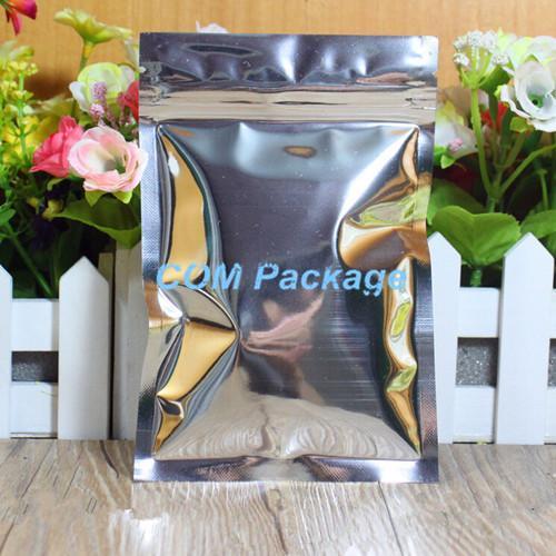 18 * 26cm feuille d'aluminium rescellable valve fermeture à glissière en plastique emballage paquet sac fermeture à glissière ziplock sac stockage au détail sachets polybag