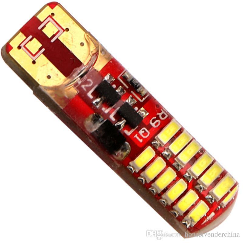 Стробоскоп!! 50X T10 PCB 194 168 W5W 3014 24 SMD 24 LED кремнезем светодиодные лампы супер белый габаритные огни 12V вспышка 2 режима света