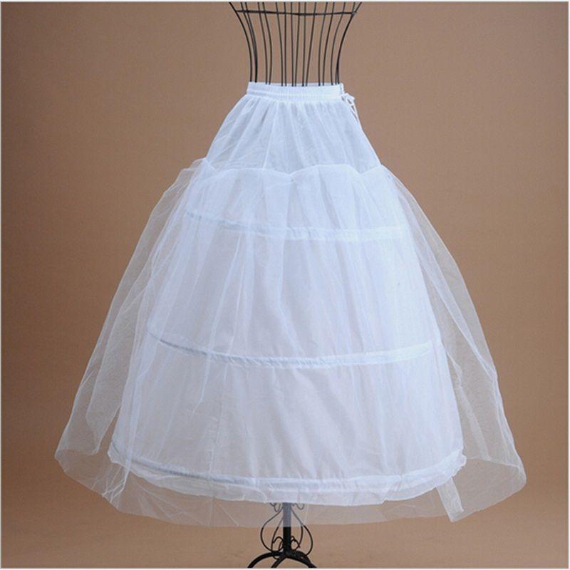 Marka Yeni Balo Petticoats Resmi Gelinlik için Beyaz Etek Kayma Kabarık Etek Gelin Aksesuarları 3 Çemberler Kemik Tam Jüpon