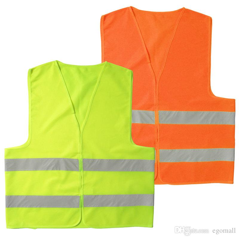 High Visibility Working Safety Construction Vest Warning Reflective traffic working Vest Green Reflective Safety Clothing 50pcs