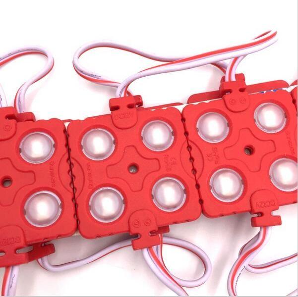 5730/5630 4LED 사출 LED 모듈 12V 방수 IP65 화이트 / 따뜻한 화이트 / 레드 / 블루 / 그린 led 모듈