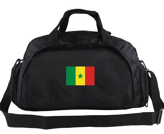 Сенегал вещевой мешок страна команда тотализатор баннер печати рюкзак футбольный багаж спорт плечо вещевой открытый слинг пакет