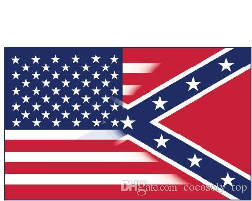 90x150cm American Flag with Confederate Rebel Civil War Flag new style hot sell 3x5 fr