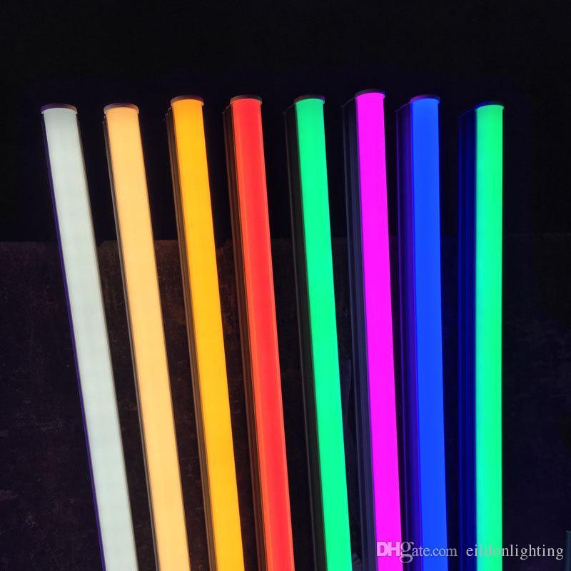 T5 Tubes LED Couleur Lumière 4ft 2ft 3ft Rose Bleu 1ft 220-240V Rouge Vert Jaune intégré fluocompactes Lampes direct de Shenzhen en Chine