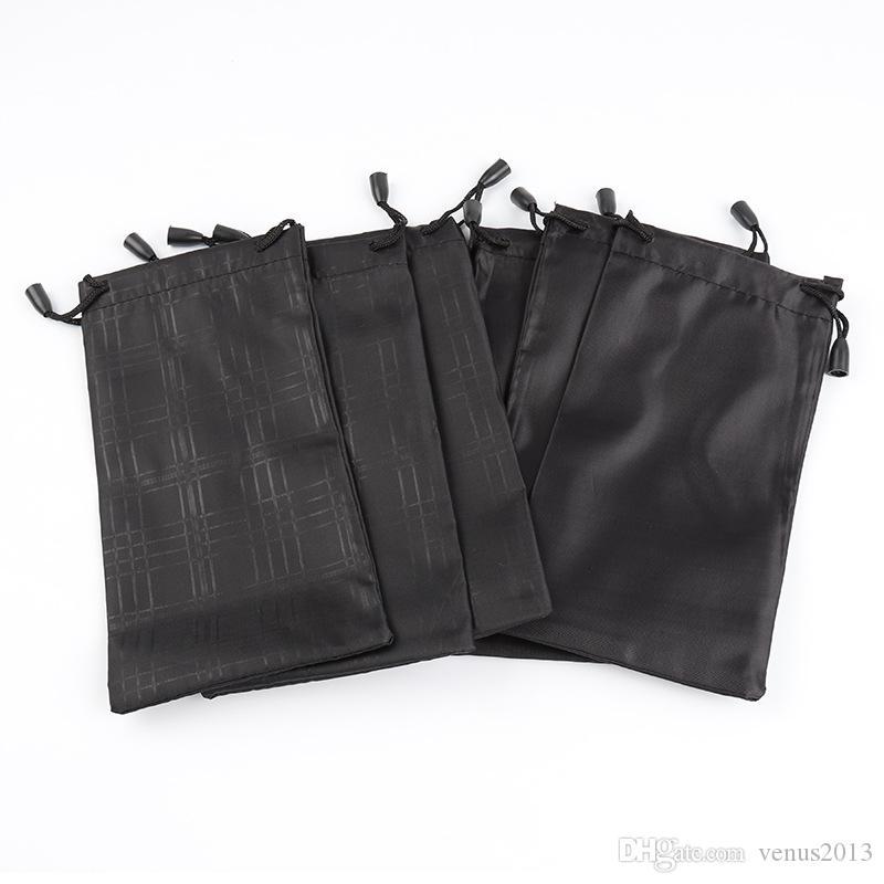 Gli occhiali da sole impermeabili morbidi di caso degli occhiali da sole del panno del plaid del panno di alta qualità di colore nero del sacchetto liberano il trasporto