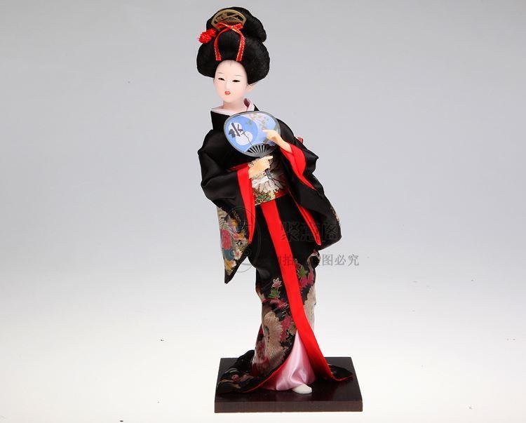 Gwill Cutie kimono giapponese in legno dolce sorridente bambola decorazione della casa artigianato ornamenti