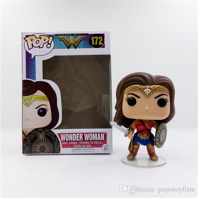 Funko POP #172 Wonder Woman Vinyl Action Figure Model Toy Gift With Box 10cm