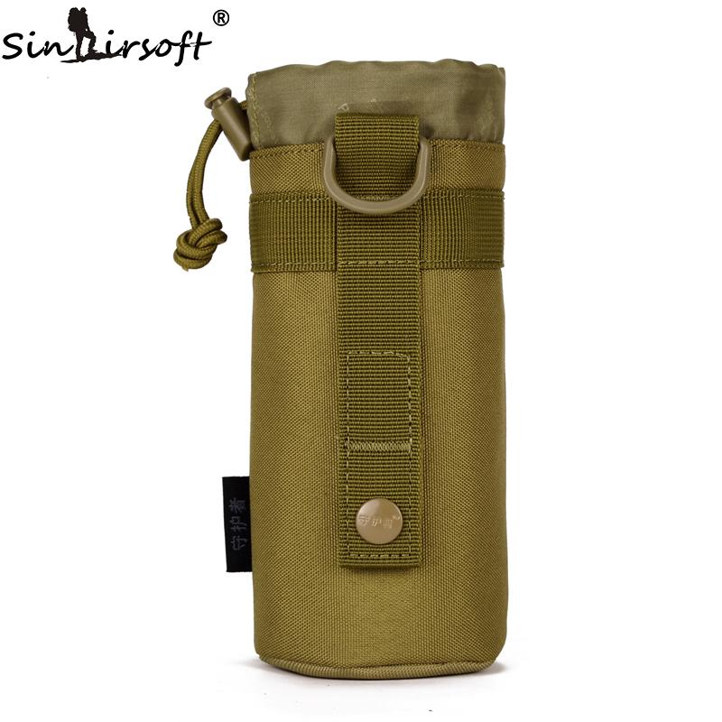 SINAIRSOFT MOLLE Sistema Garrafa de Água Garrafa Sacos De Escalada D-anel Titular Drawstring Bolsa Exército Durável Saco De Água De Viagem Caminhadas