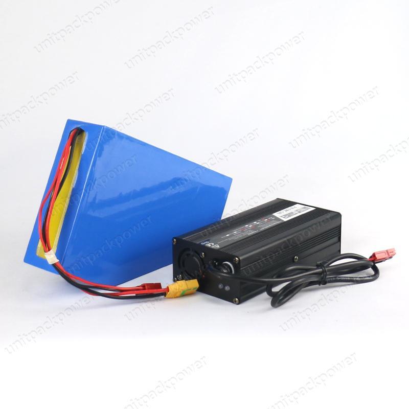 UE Brak podatku elektrycznego Trójkąt rowerowy Trójkąt baterii 48V 14AH Sanyo GA Bateria jonowa litowa z 4a szybka ładowarka