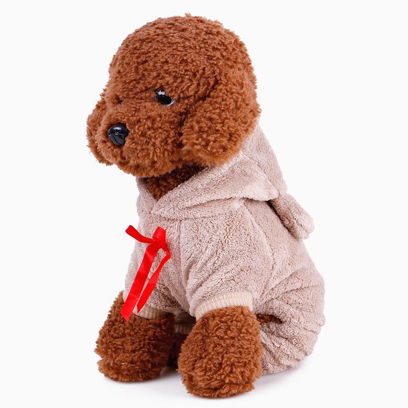 Neue Ankunft Winter Hund Mäntel Hohe Qualität Fleece Jacken Cosplay Bär Kostüm Haustiere Mäntel Reizende Kleine Haustiere Kleidung Freies Verschiffen