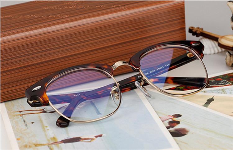 Classical Retro-Vintage 5154eye-Brow Brow Glasses Frame Occhiali da prescrizione in metallo di alta qualità Plancia Occhiali da prescrizione telaio51-27-140 Freeshipping all'ingrosso
