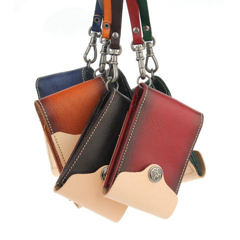 2017 нового пакет посадка кожевенной карты японского оригинала рука шить кожаный бумажник пакет кошелек