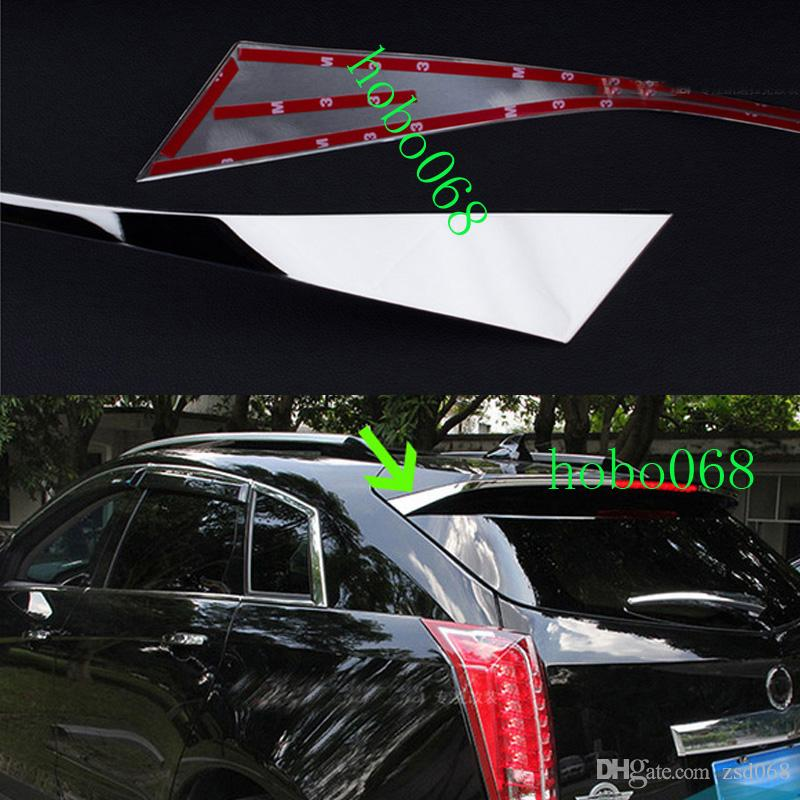2x سيارة السيارات 304 الفولاذ المقاوم للصدأ المفسد الخلفي ديكور الذيل تريم الإطار ل كاديلاك srx 2010-2015