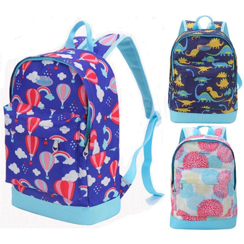 Children Boys Girls Dinosaur Pattern Animals Backpack Bookbag Travel School Bag