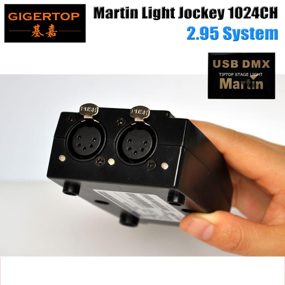 TipTop熱い販売5ピンUSB DMXマーティンライトジョッキーソフトウェアインターフェイスDMX USBコントローラ1024チャンネルステージ照明コンソール