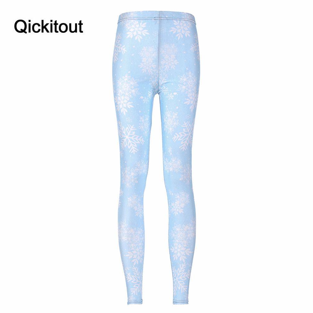 Wholesale- Women Print Green Legging Fashion Digital Printing CHRISTMAS SNOWFLAKE TOASTIES - LIMITED Drop shipping Fitness Pants Woman
