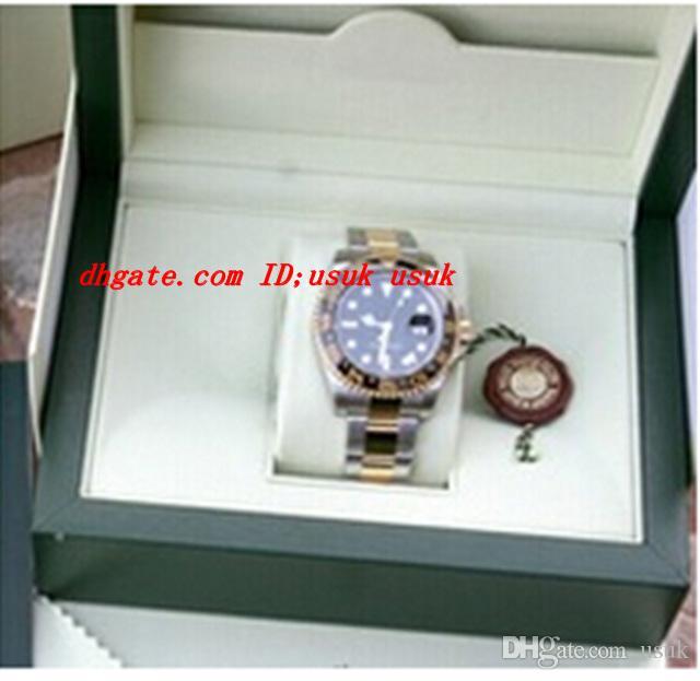 Luxus Armbanduhr II 116713 18 Karat Gold / Edelstahl Armband Herren Automatikuhr Schwarz Keramik Lünette Herren Sport Armbanduhren Original Box