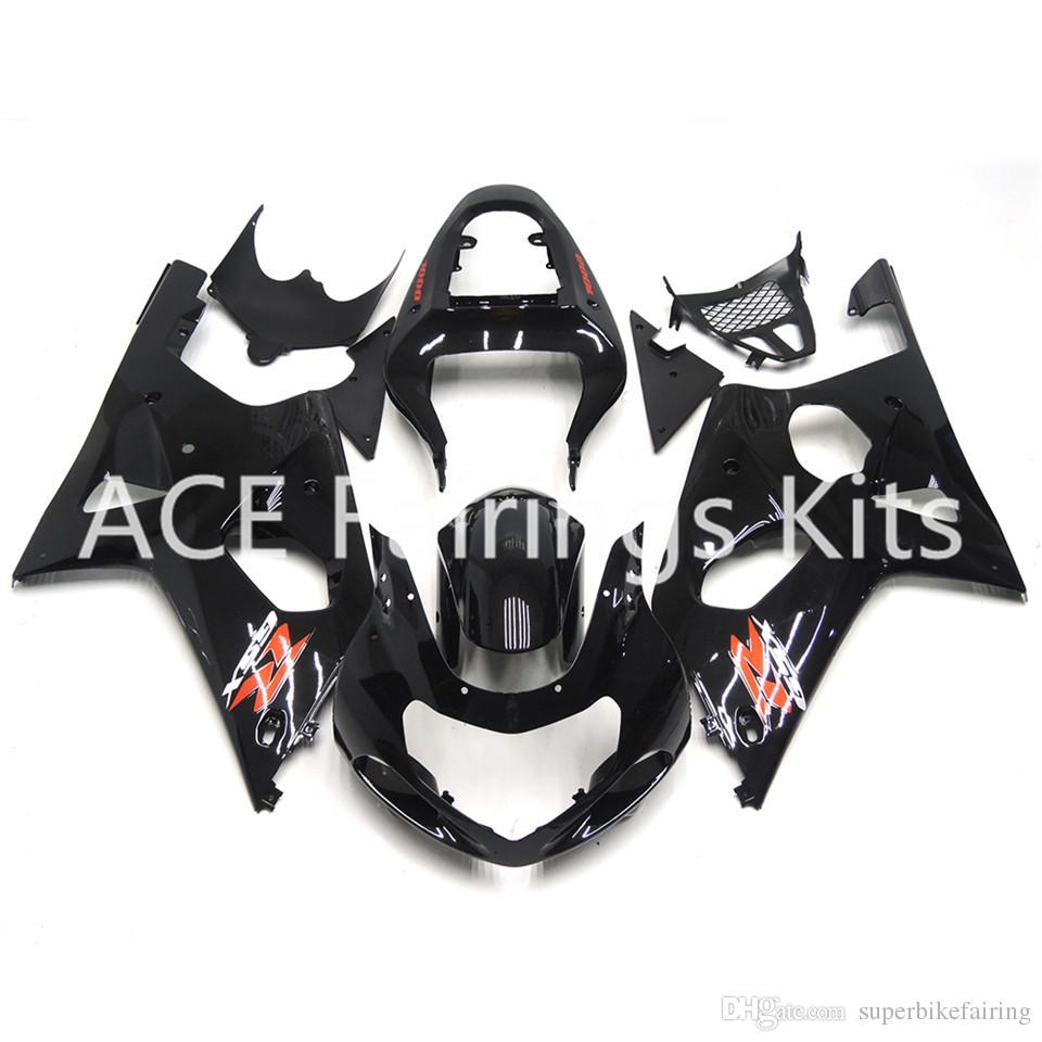 3 regalos gratis Nuevo Suzuki GSXR1000 K1 K2 00 01 02 GSXR1000 K1 K2 2000 2001 2002 Inyección ABS Plástico Motocicleta Carenado Negro estilo v89