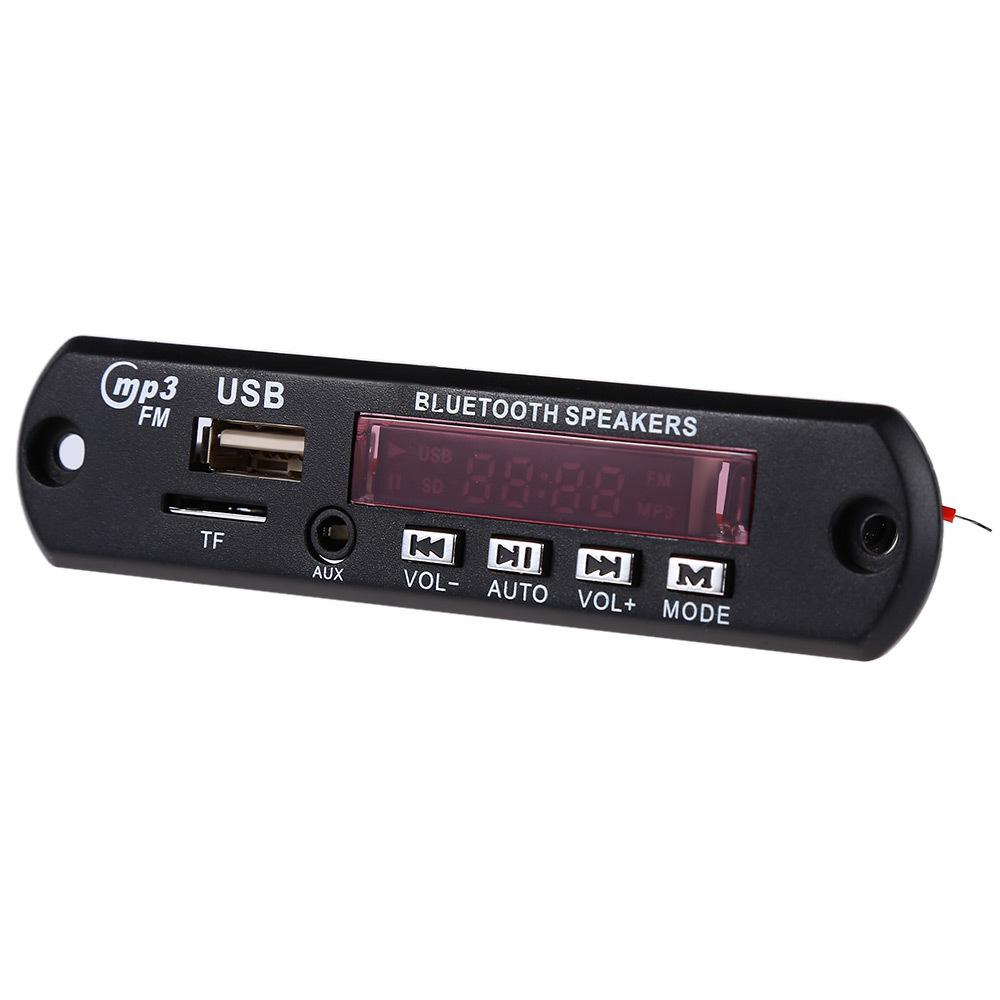 Wholesale- Wireless Bluetooth MP3 WMA Decoder Board Audio Module USB TF Radio MP3 Player Decoder Board Module TF Card Slot USB Port FM