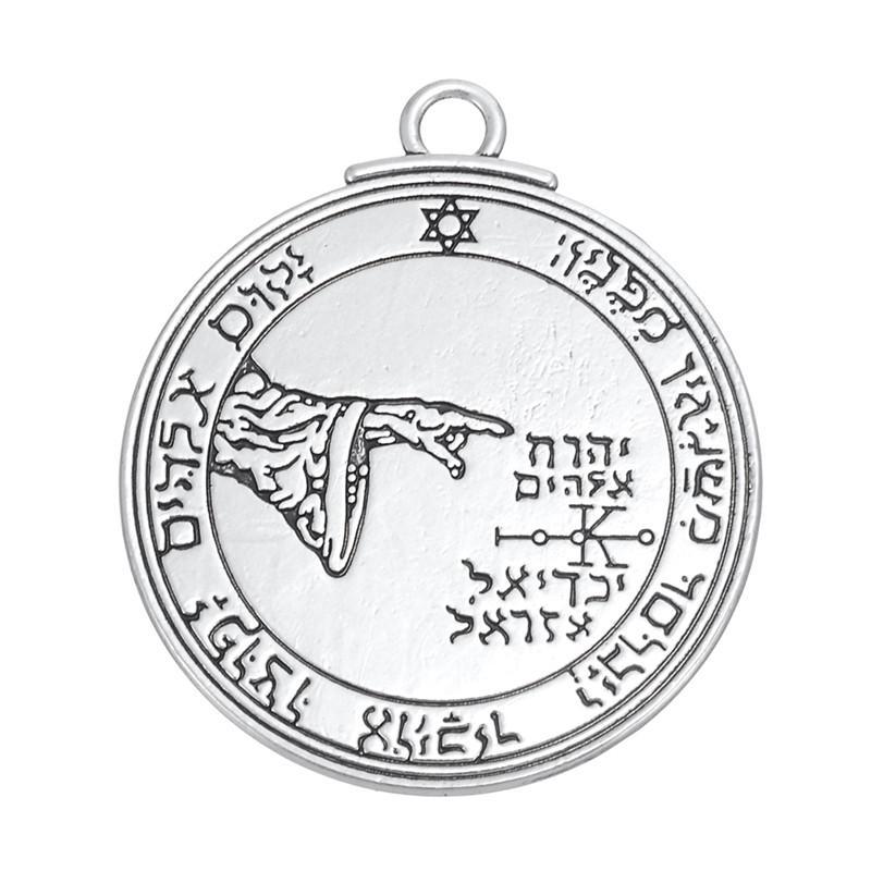Wholesale- Pentacle of the Moon Talisman key of solomon bracelets charm pendants