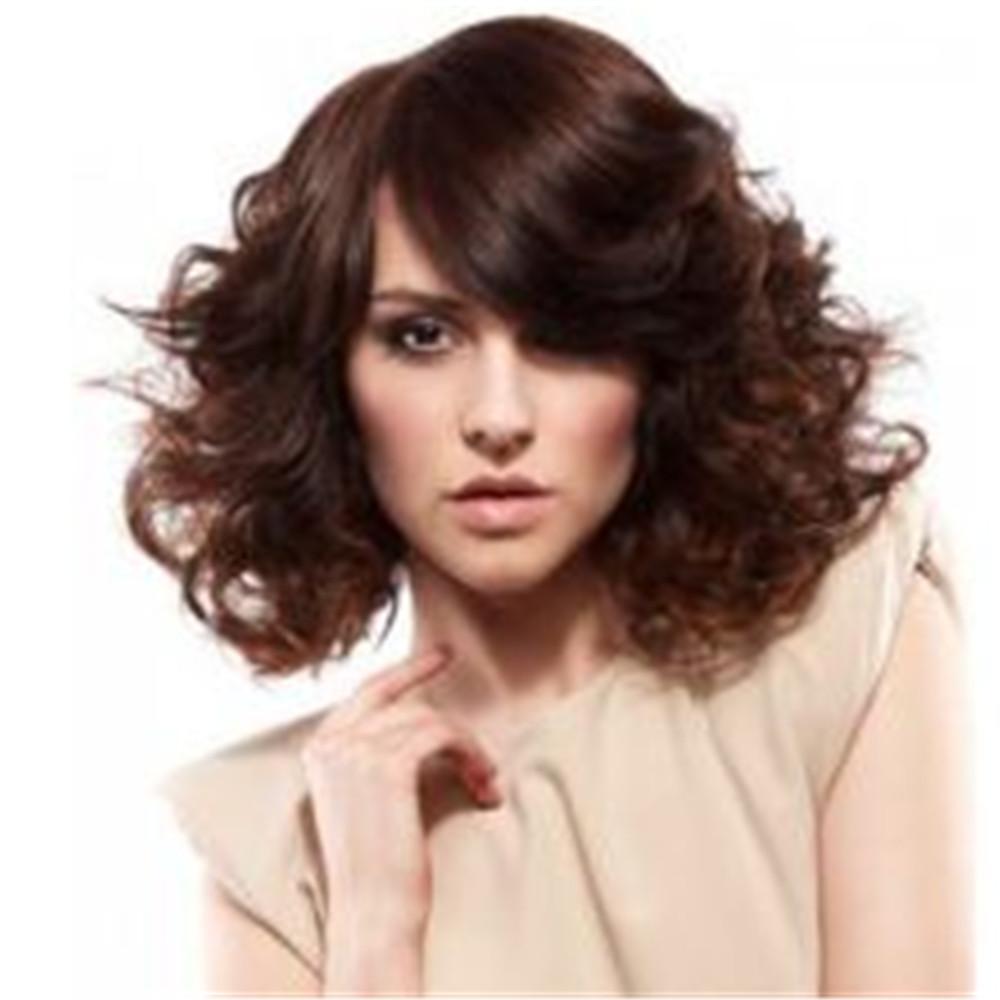 Großhandel Neue Perücke Kurze Perücke Braune Kurze Lockige Perücken Für Frauen Kurze Haare Für Mädchen Frauen Täglich Synthetische Haar Dhl Bea448 Von