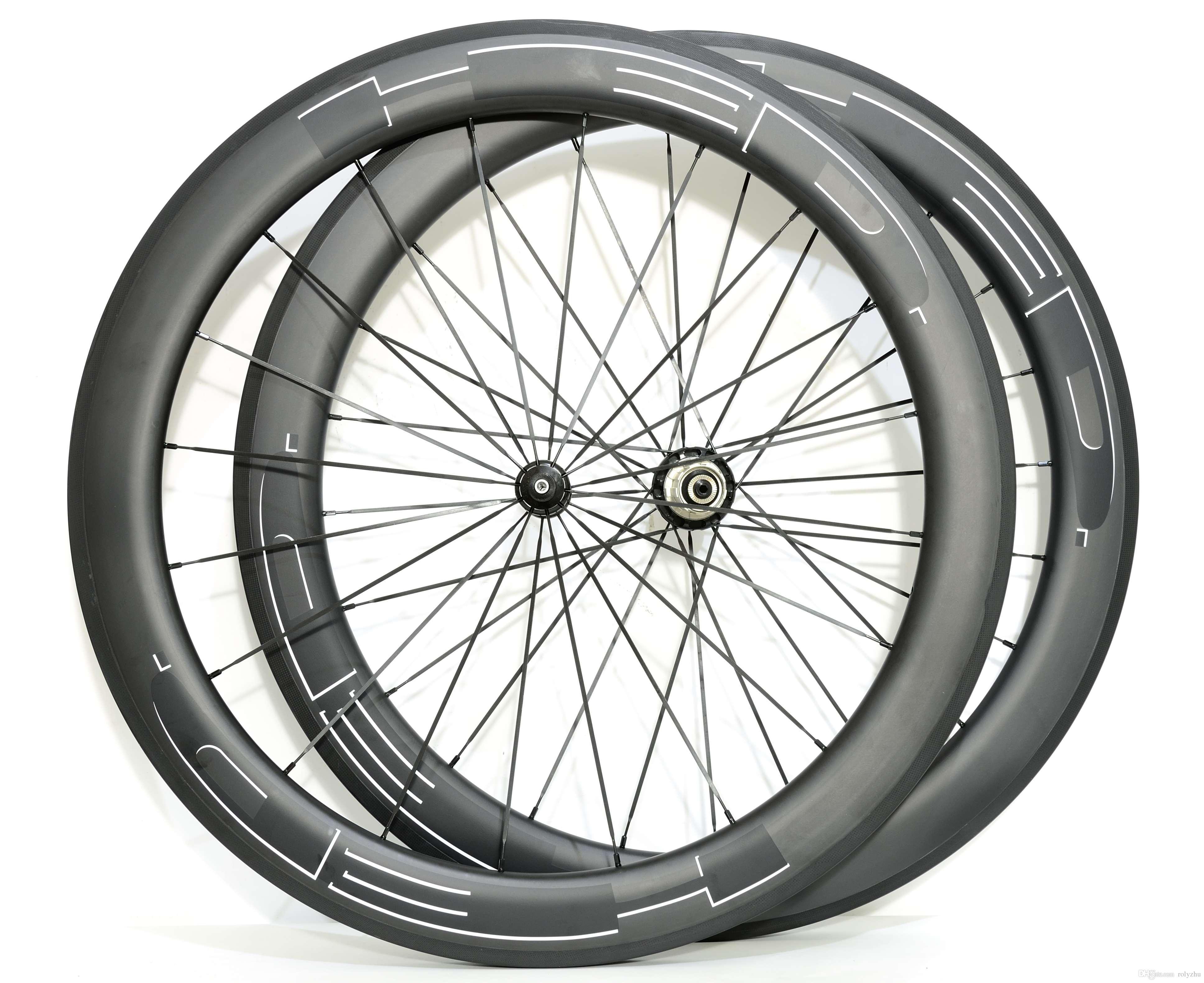 700C 60mm depth carbon wheelset road bicycle Clincher/Tubular 25mm width carbon wheels U-shape rim UD matte finish with R36 hubs