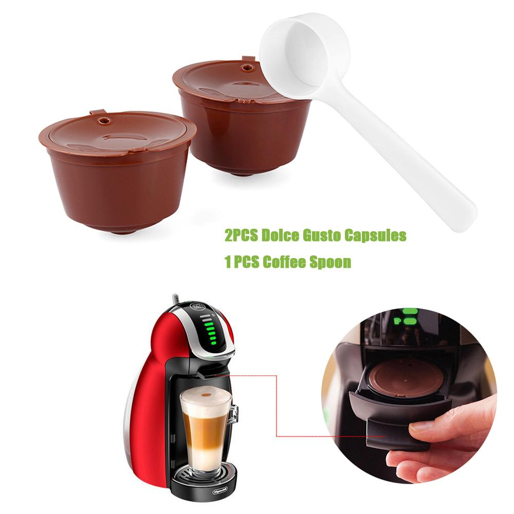 2020 Refillable Dolce Gusto Coffee Capsule Nescafe Dolce Gusto Reusable Capsule Dolce Gusto Capsules With Coffee Spoon From Lifehello 5 3 Dhgate Com