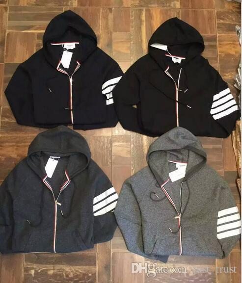Hot Spring quente Pullover Hoodies New York marca listrado suéter Treino Thom b rowne camisola tamanho M 2XL ~