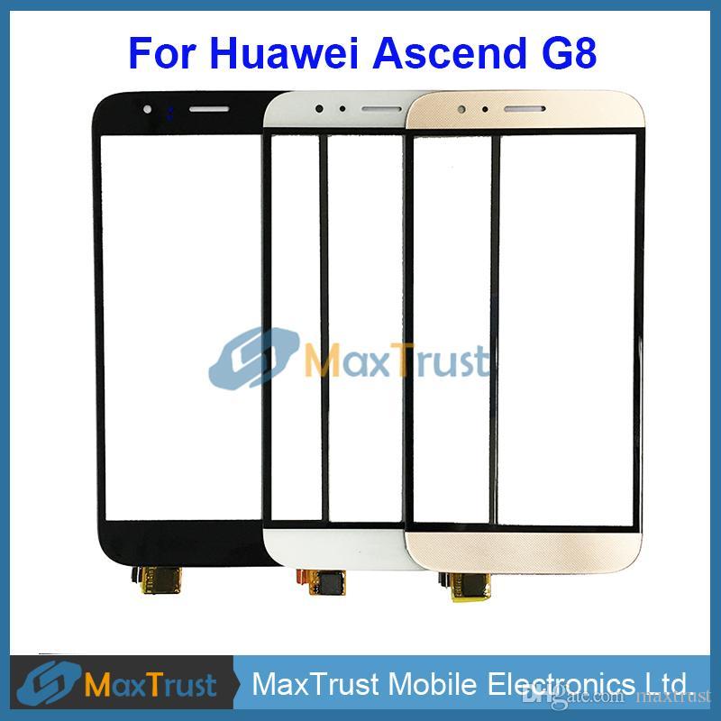 """Üst Kalite 5.5"""" Huawei Ascend G8 RIO-L02 GX8 RIO-L03, Dokunmatik Ekran Digitizer Ön Panel Sensör Siyah Beyaz Altın Rengi için"""
