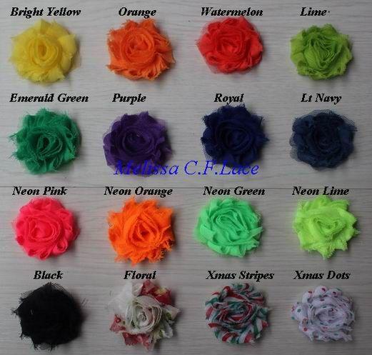 """Бесплатно США ePacket / CPAP 30y 28 цветов 1.5 """" мини petite chic потертый шифон роза цветок отделка для девочек аксессуары для волос"""