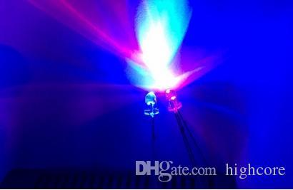 MIX Through Hole Bicolor LED da 3 mm Rosso @ Bianco Blu @ Bianco Colore Anodo comune / catodo