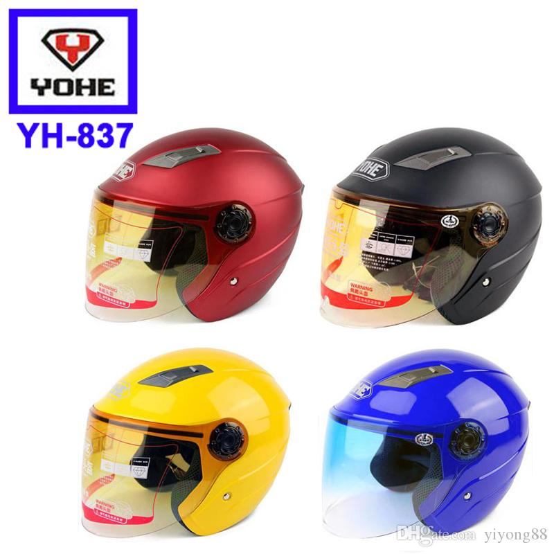 1 pc Motorcycle Helmets Open Face Helmet YOHE YH837 Electrical Scooter Capacete Casco yohe half helmet