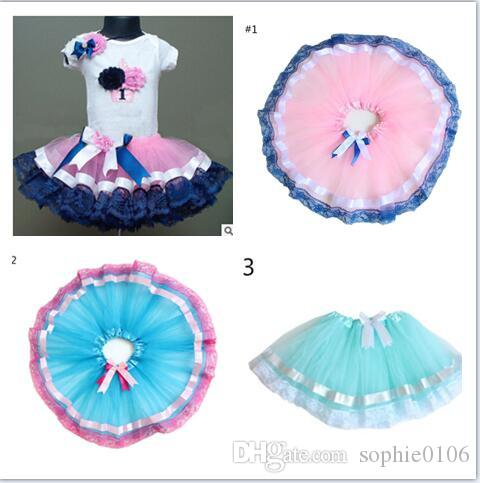 Baby meisjes tutu rokken jurk kinderen tutu prinses pettiskirt kinderen kanten jurk kinderen tutu bloem buste rok KLX 007