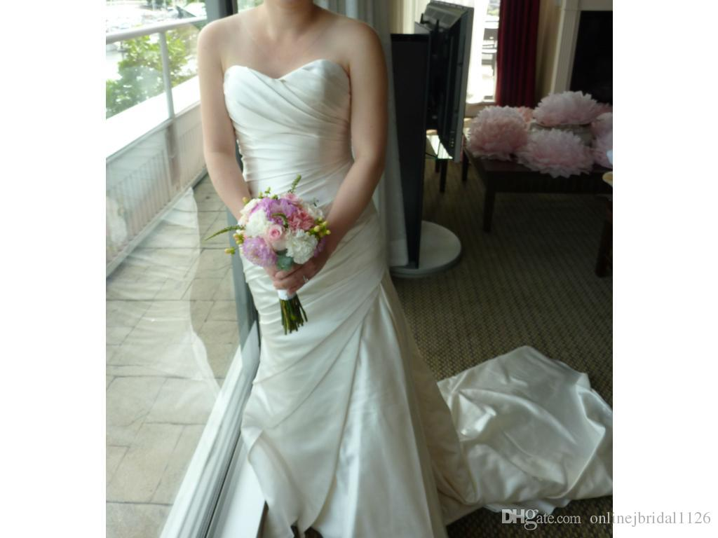 Gorgeous Fit and Flare Sweetheart COR-765 Ruched Pleated Vestido De Noiva Bridal Wedding Dress Gown Casamento Robe De Mariee