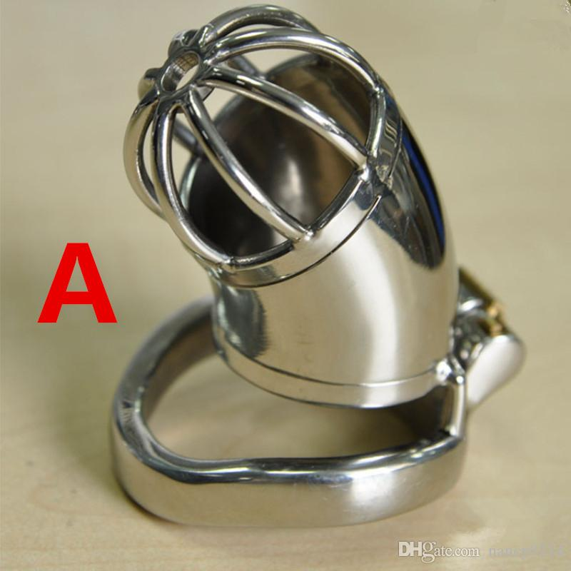 Keuschheit für Neues Design mit Keuschheit Katheter Harnröhre Erwachsene Geräte aus Stahl G7-1-196 Käfig Anti Männlicher Ringkäfig Herren Stainles DHFNV