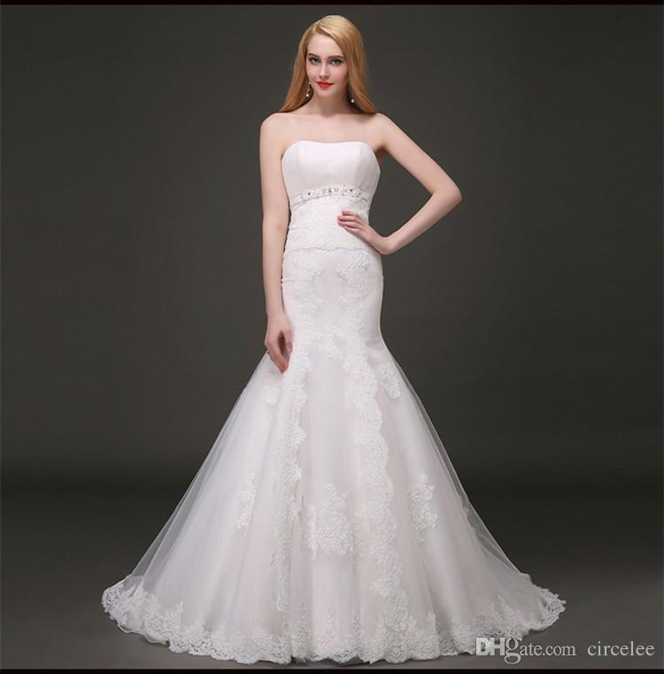 2017 Simple Country Wedding Dresses Romantic Vintage Lace Sheath ...