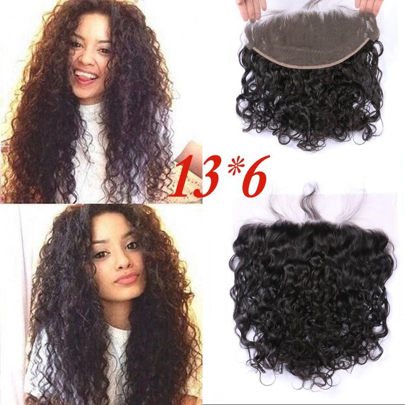 Brazilian Water Wave Lace Frontals Mongolian Peruvian Indian Vietnamese Virgin Hair Frontal Closures 13x6 Ear to Ear FDSHINE