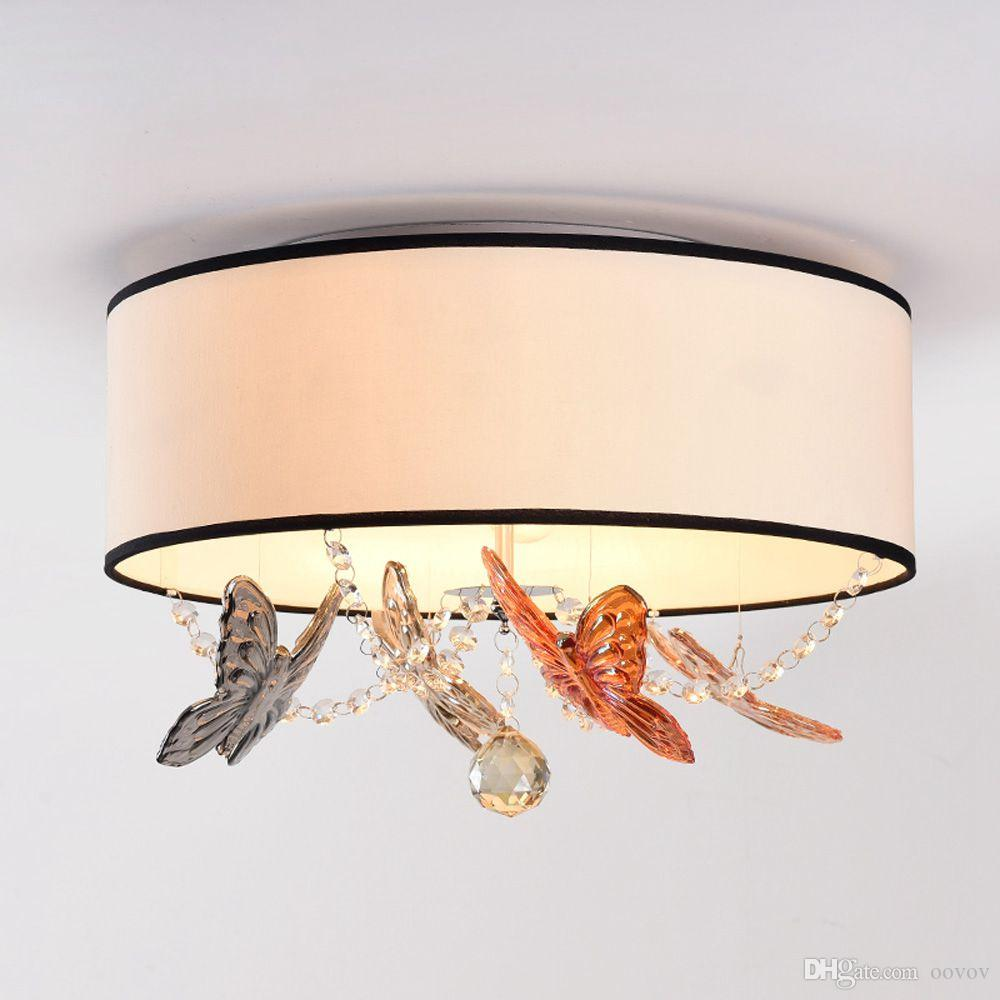2020 Modern Crystal Butterfly Bedroom Ceiling Lights Fashion Girls Room Fabric Ceiling Light Study Room Ceiling Lamp From Oovov 210 06 Dhgate Com