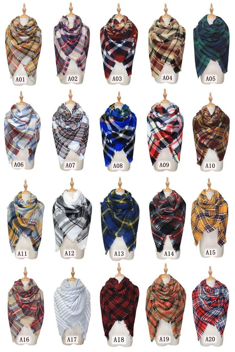 2021 Scarves Plaid Blanket Scarf Women Tartan Tassels Scarf Grid Shawl Lattice Muffler Fashion Girls Winter Wraps 140 140cm Dhl C2795 From Hltrading 5 32 Dhgate Com