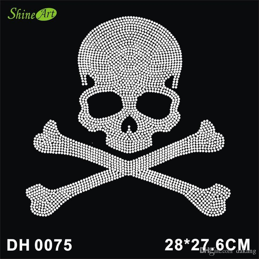 UK SELLER 1x Skull w// Headphones Iron On Heat Transfer Sticker DIY