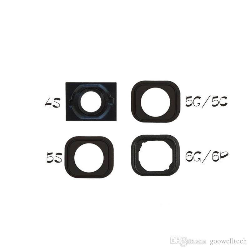 100pcs Home Button Glue Adhesive Rubber Gasket Sticker Holder For Apple iPhone 4S 5 SE 5S 5C 6 6S 6 Plus 6S Plus Replacement Part