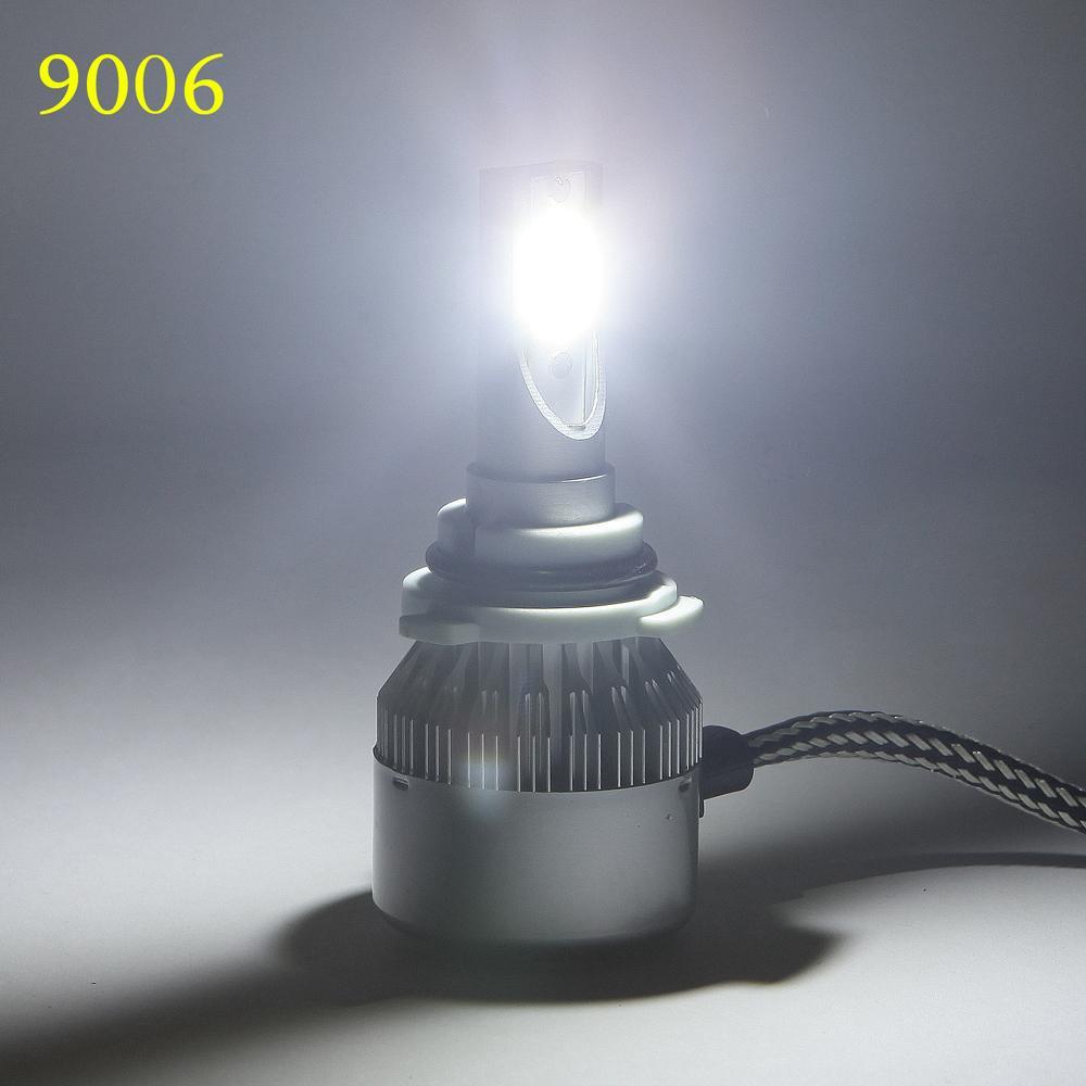 H7 H11 H3 9005 9006 COB LED السيارات العلوي لمبة 72W 7600LM 6000K السيارات الأمامية أضواء 12V 24V السيارات الضباب